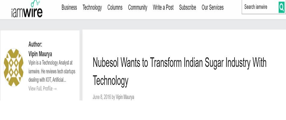 NubeSol for Sugar industry / sugarcane